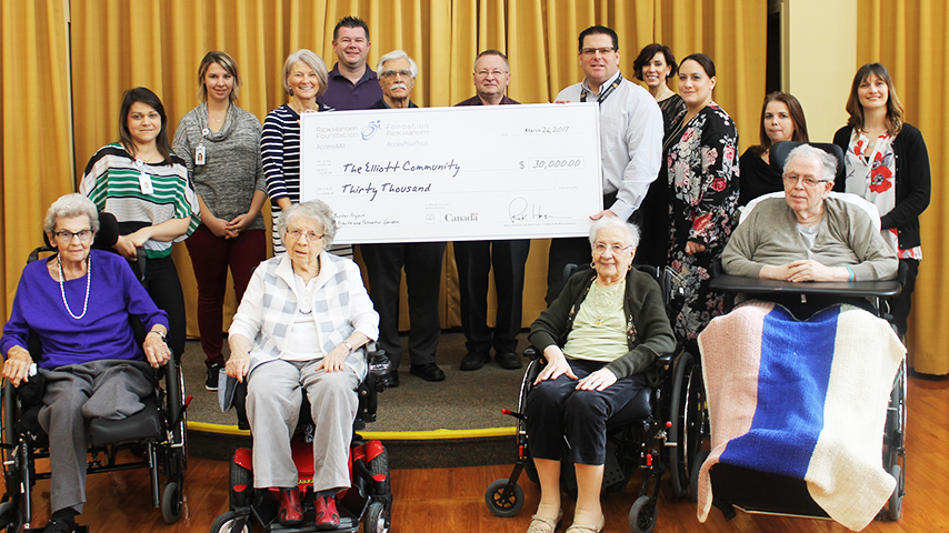 Some residents and volunteers of the Eliot Community Seniors Home