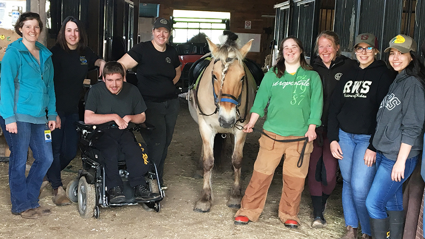 The team of Rohan Woods Stables